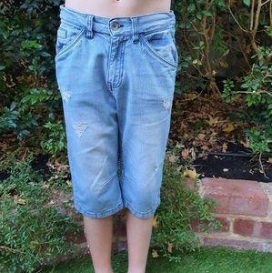 Boys Pumpkin Patch Long Denim Shorts sz 10